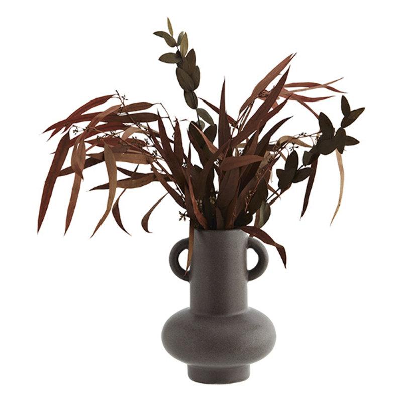 Madam Stoltz-collectie Stoneware vase Brown D:11,5x16,5 cm