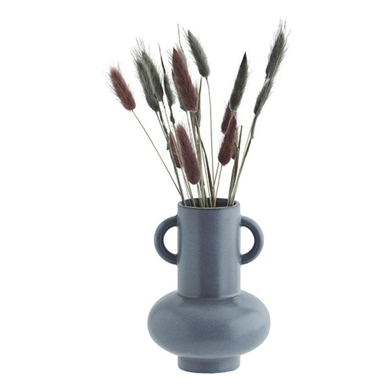 Madam Stoltz-collectie Stoneware vase Blue D:13,5x18 cm