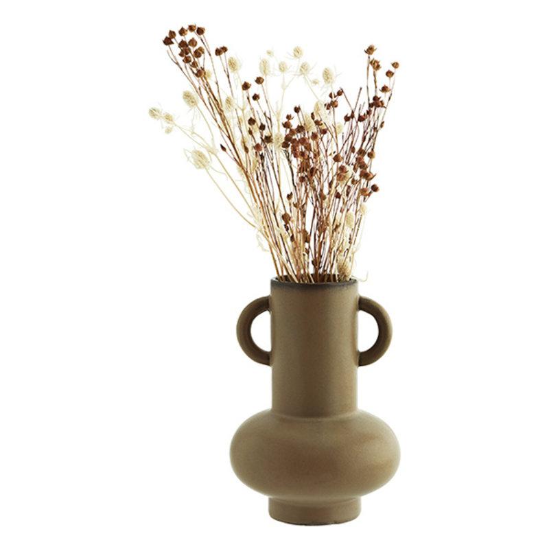 Madam Stoltz-collectie Stoneware vase Oil D:15x20,5 cm