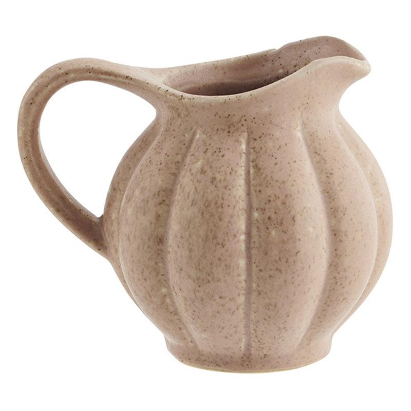 Madam Stoltz-collectie Stoneware jug Dusty rose, mustard D:13x10 cm