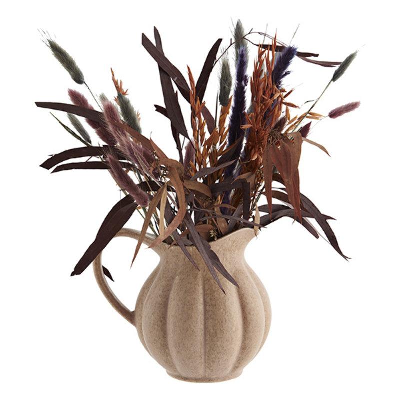 Madam Stoltz-collectie Stoneware jug Dusty rose, mustard D:18,5x14 cm