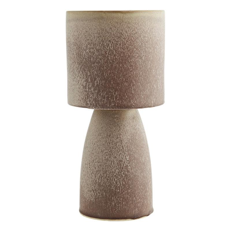 Madam Stoltz-collectie Stoneware flower pot Powder, brown D:17x36 cm