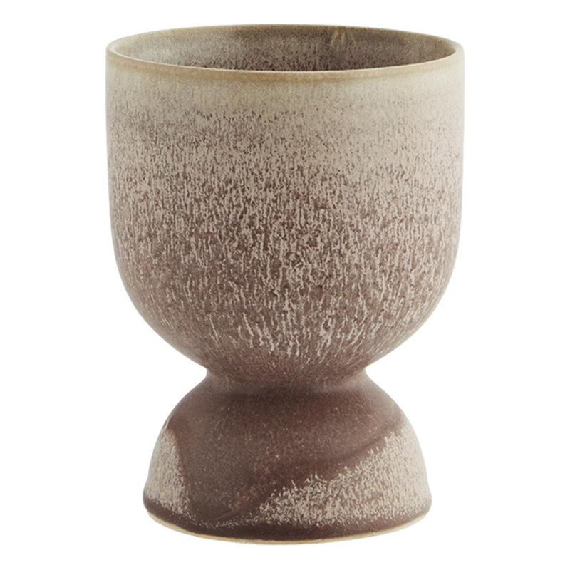 Madam Stoltz-collectie Bloempot  - poeder - bruin 14,5 cm