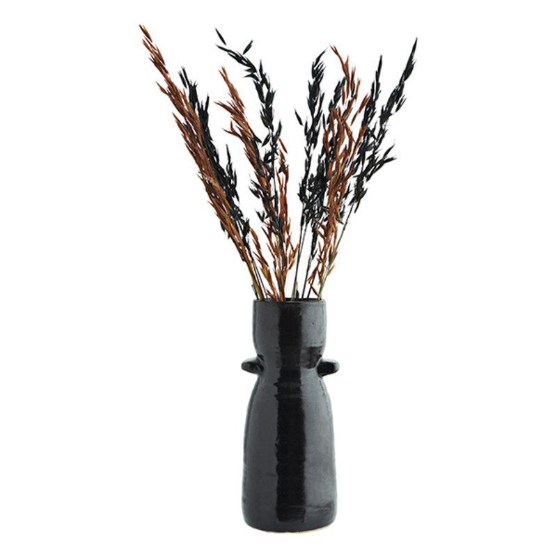 Madam Stoltz-collectie Aardewerk vaas zwart 26,5 cm