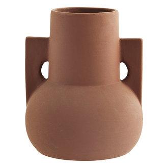 Madam Stoltz Terracotta vase Brick D:18x22 cm