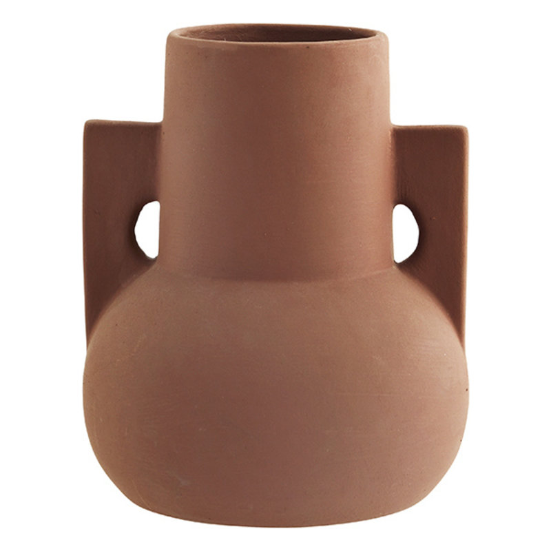Madam Stoltz-collectie Terracotta vase Brick D:18x22 cm