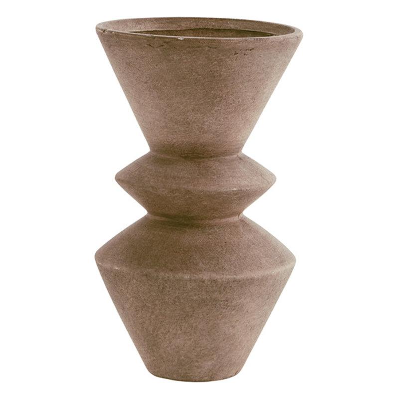 Madam Stoltz-collectie Terracotta vase Washed terracotta D:15x25,5 cm