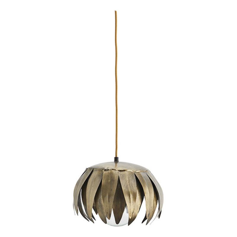 Madam Stoltz-collectie Iron ceiling lamp Ant.brass D:28x22 cm