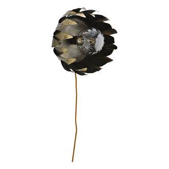 Madam Stoltz Iron wall lamp Ant.brass D:28x21 cm