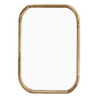 Madam Stoltz Mirror w/ wooden frame Natural 53x76 cm