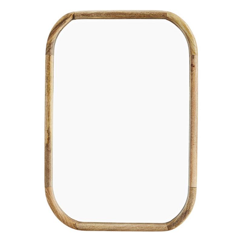 Madam Stoltz-collectie Mirror w/ wooden frame Natural 53x76 cm