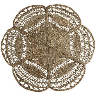 Madam Stoltz Round seagrass rug Natural D:150 cm
