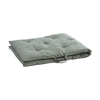 Madam Stoltz Striped woven mattress Moss green, charcoal  70x180 cm