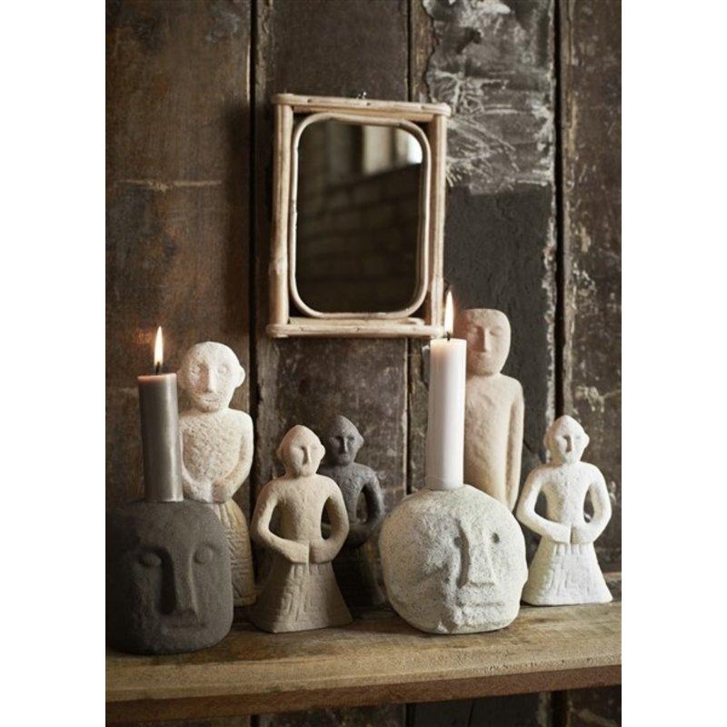 Madam Stoltz-collectie Spiegel bamboe lijst 15x20,5 cm
