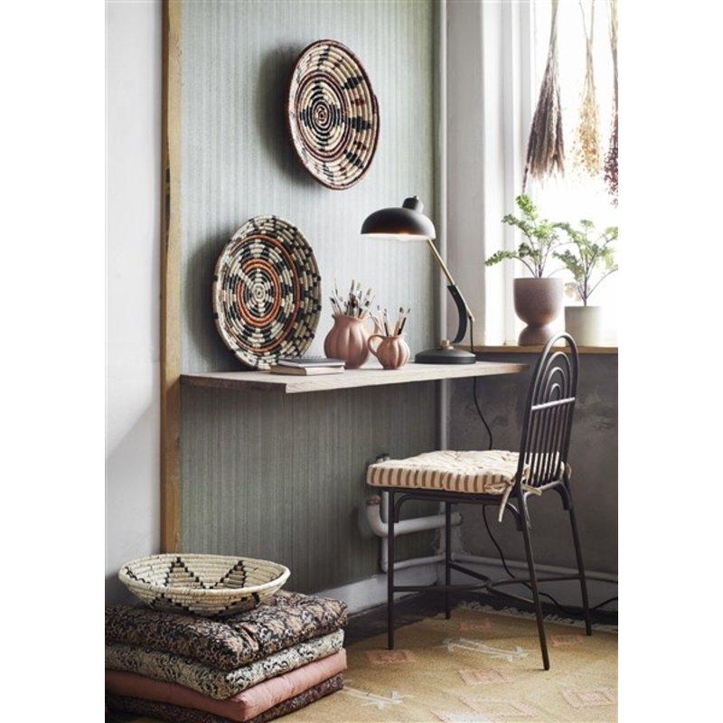 Madam Stoltz-collectie Iron chair Ant.brown 41x56x89 cm