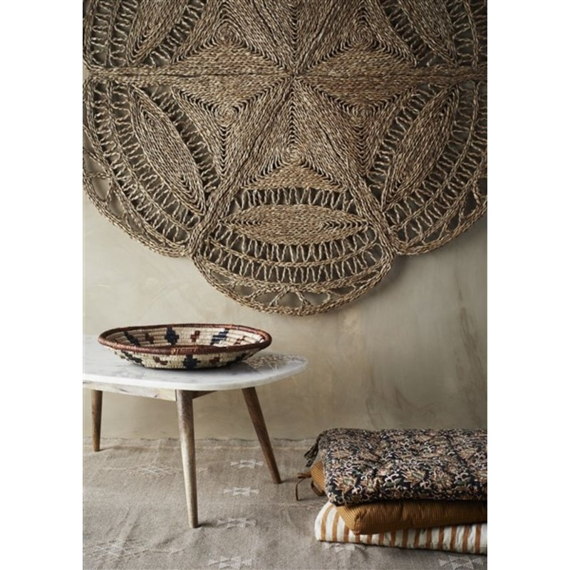 Madam Stoltz-collectie Handwoven cotton rug Greige, off white, nude 120x180 cm