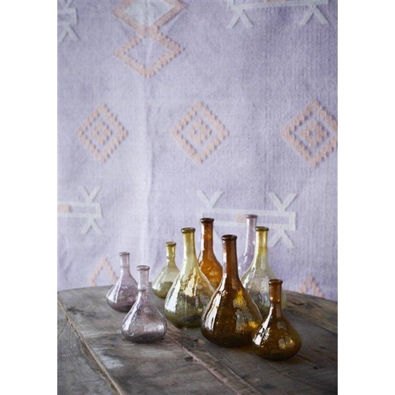 Madam Stoltz-collectie Katoenen vloerkleed lila met handgeweven print