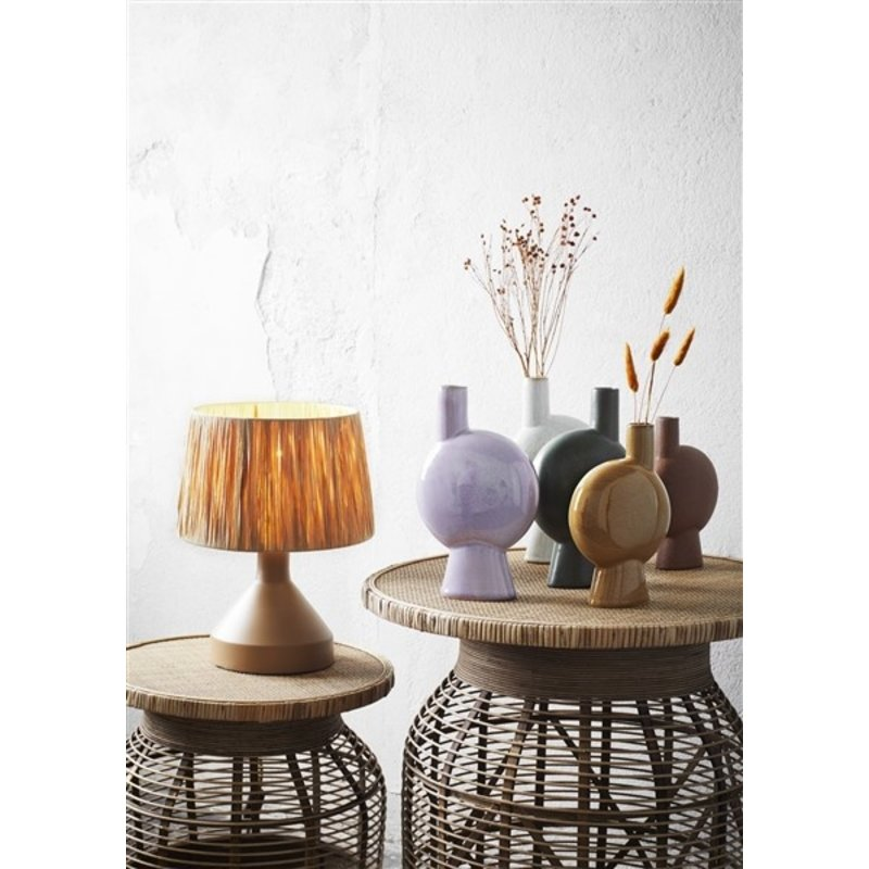 Madam Stoltz-collectie Stoneware vase Off white D:16x27 cm
