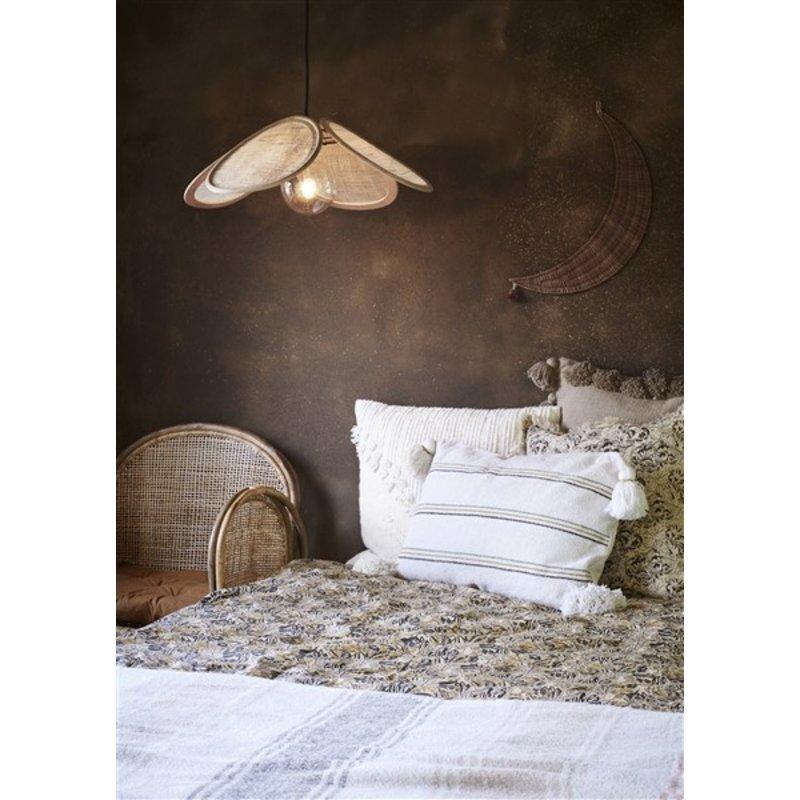 Madam Stoltz-collectie Cushion cover w/ tassels Greige 60x60 cm