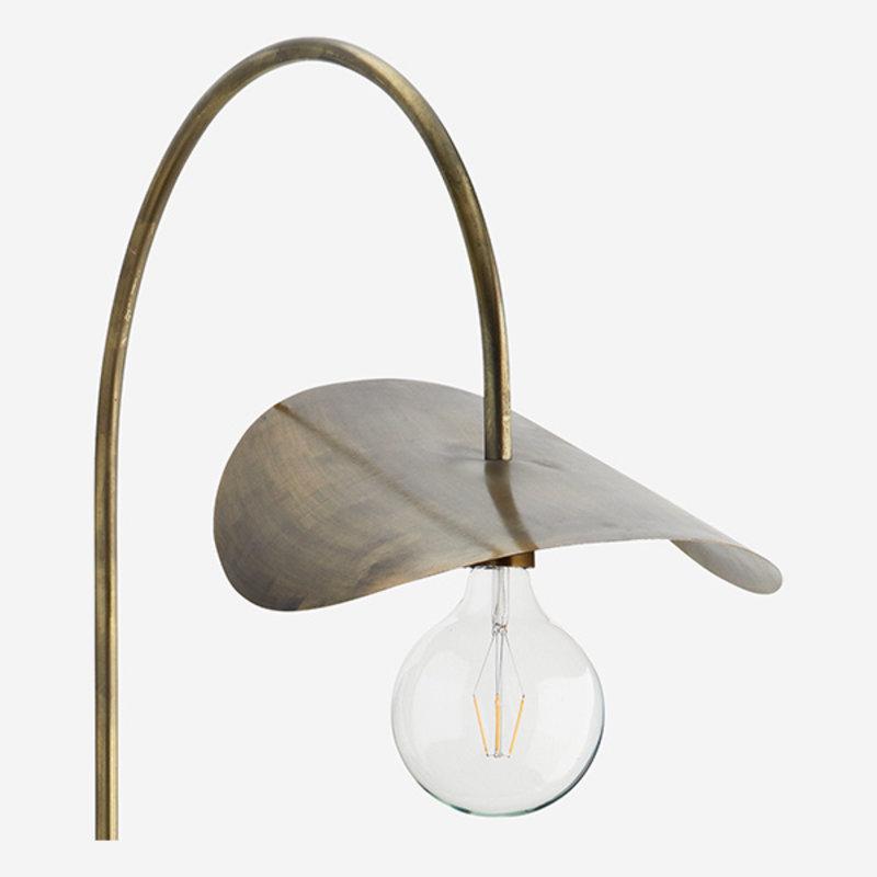 Madam Stoltz-collectie Iron wall lamp Ant.brass 37x66x103 cm