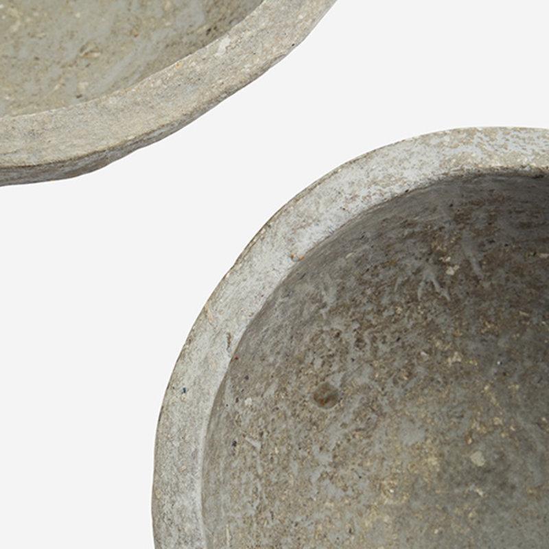 Madam Stoltz-collectie Schalen - set van 2 -  papier mache antiek finish