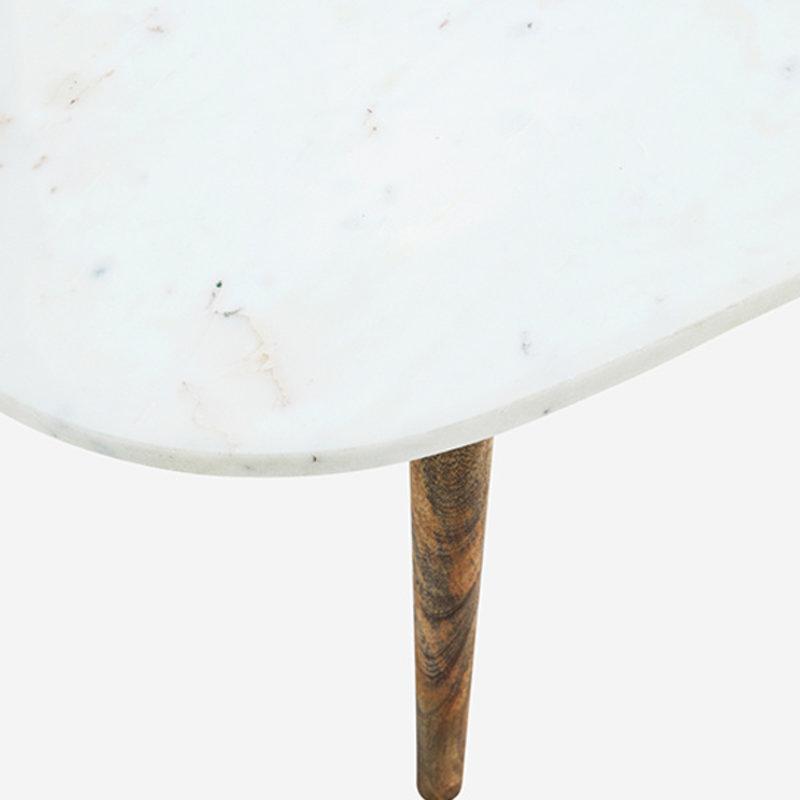 Madam Stoltz-collectie Salontafel met wit marmeren blad