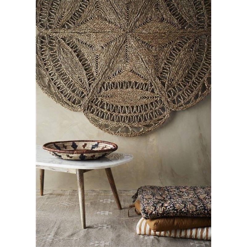 Madam Stoltz-collectie Round seagrass rug Natural D:150 cm