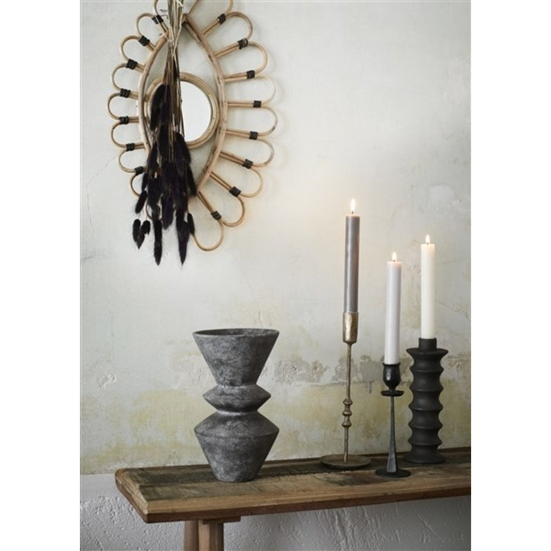 Madam Stoltz-collectie Hand forged candle holders Brass H:23/28 cm