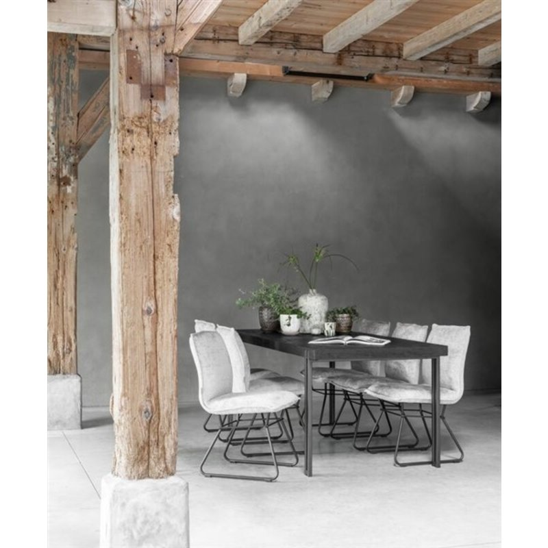 MUST Living-collectie Eetkamerstoel Trapezium taupe