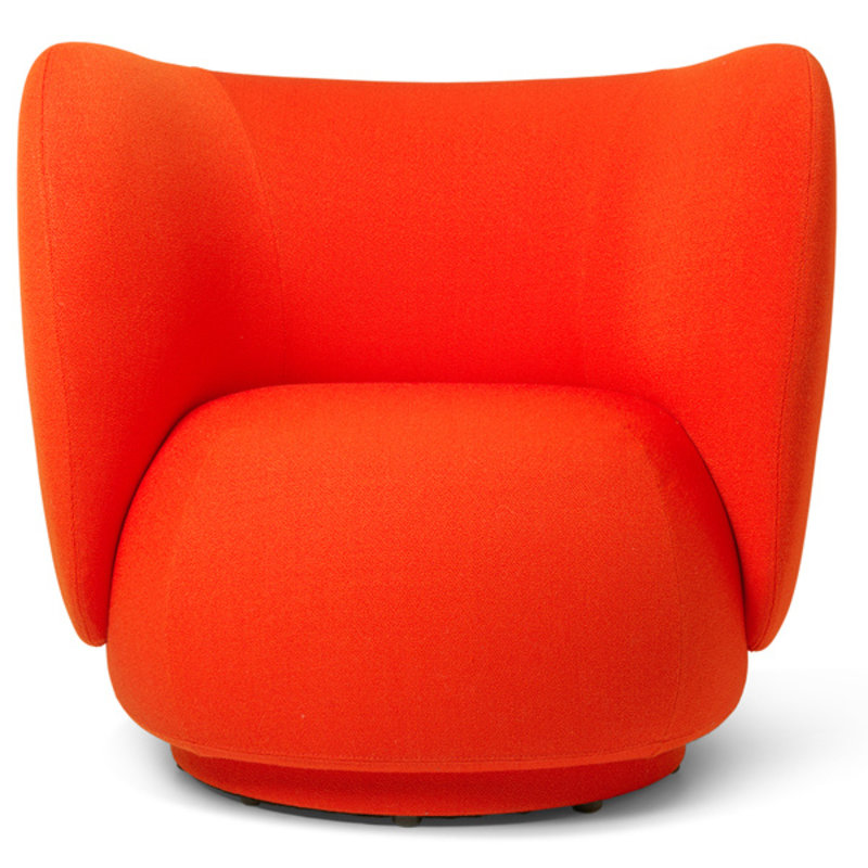ferm LIVING-collectie Rico Lounge Chair poppy red