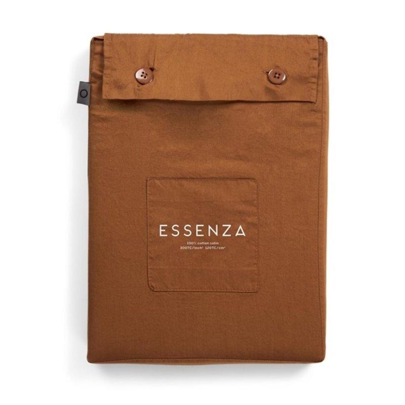Essenza-collectie Dekbedovertrek Minte Bruin