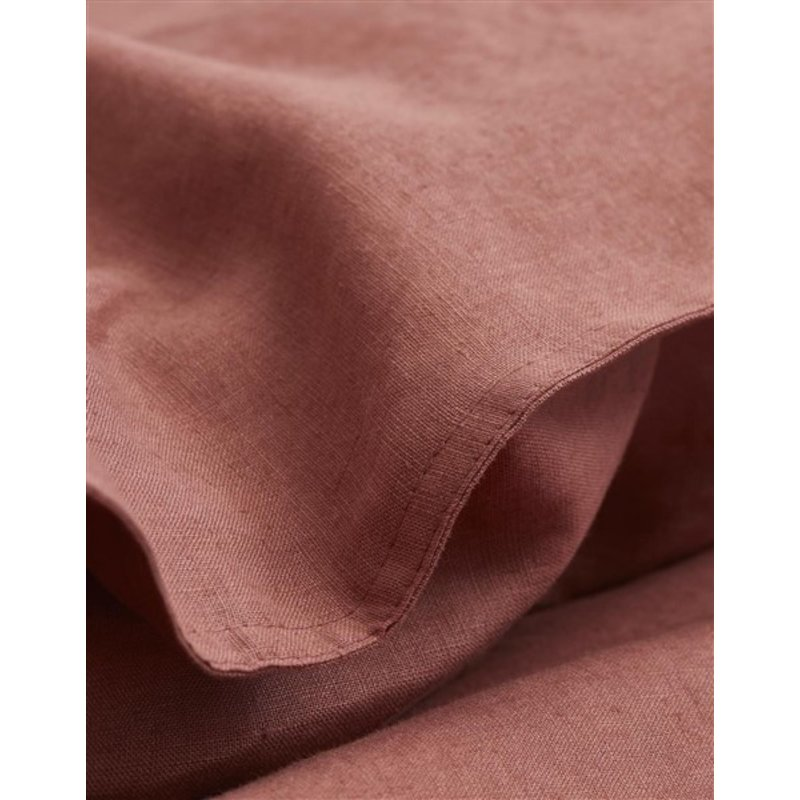 Marc O'Polo-collectie Dekbedovertrek Valka Rood/bruin