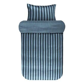 Marc O'Polo Dekbedovertrek Classic Stripe Diepblauw