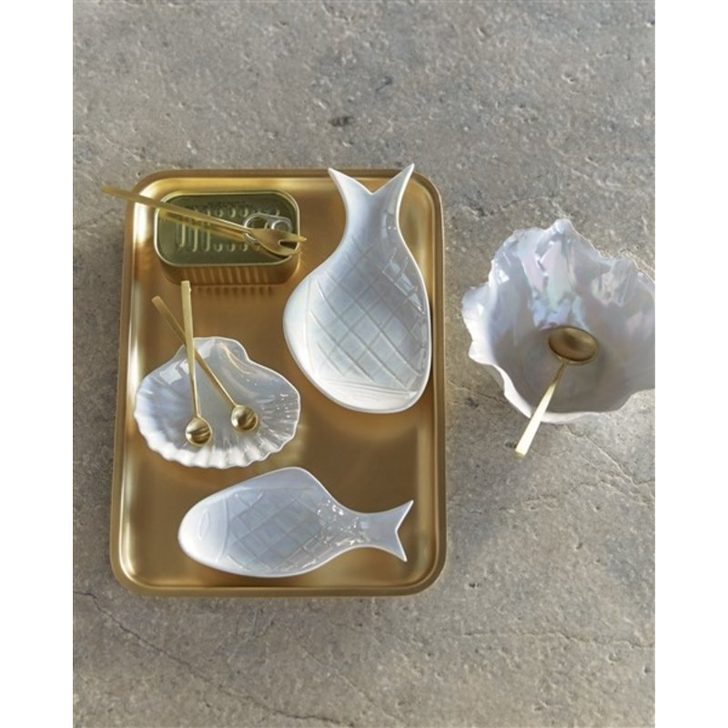 Urban Nature Culture-collectie Bowl Fish, Mother Of Pearl 16Cm