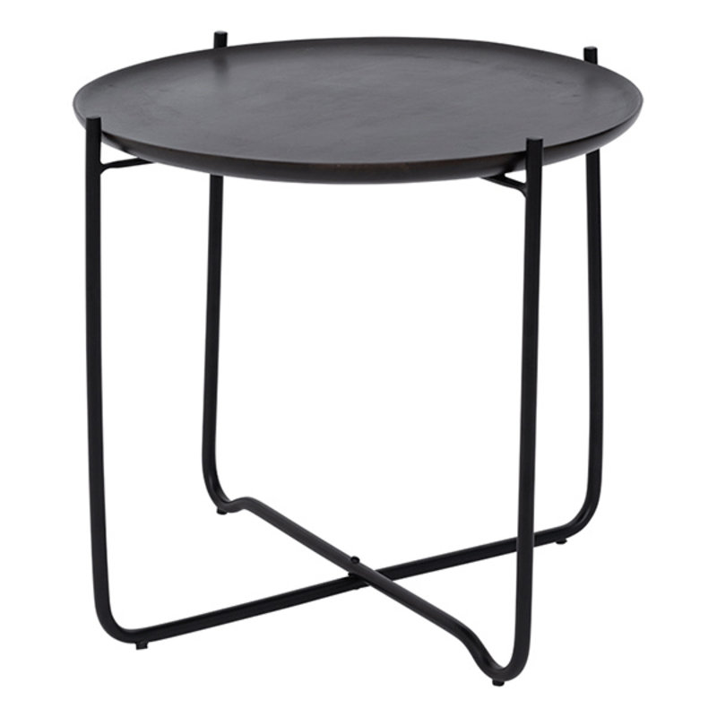 Urban Nature Culture-collectie Coffee Table With Serving Tray Fez, Shizu Black Small