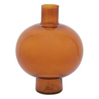 Urban Nature Culture Vaas rond recycled glas oranje