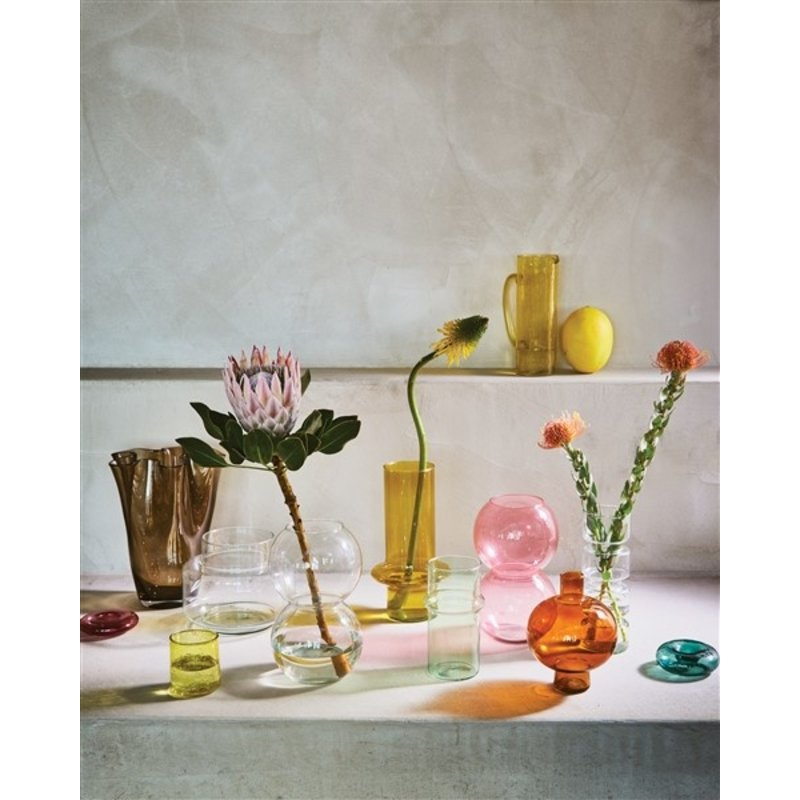 Urban Nature Culture-collectie Vase Recycled Glass Round, Golden Oak