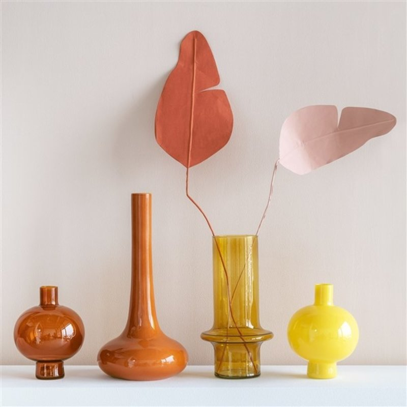 Urban Nature Culture-collectie Vaas rond recycled glas geel