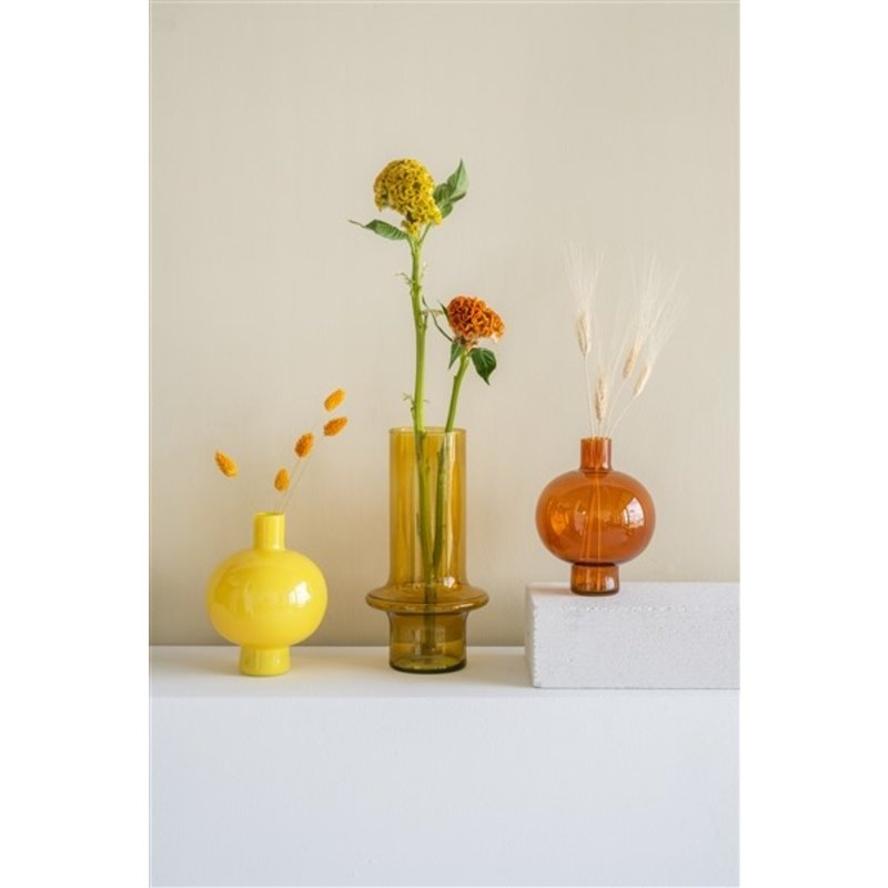Urban Nature Culture-collectie Vase Recycled Glass Round, French Vanilla
