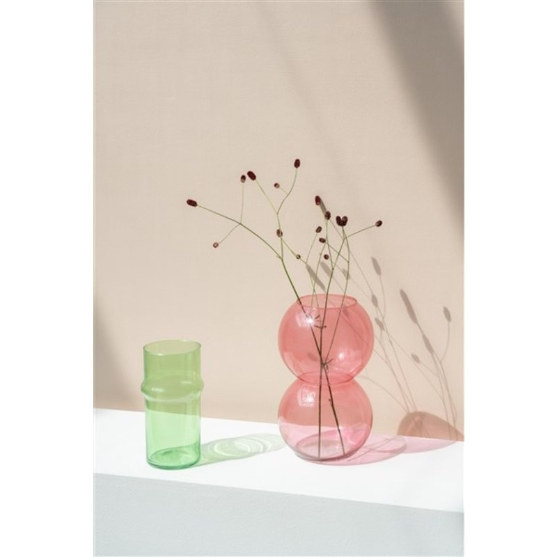 Urban Nature Culture-collectie Vase Recyled Glass Bulb, Branded Apricot