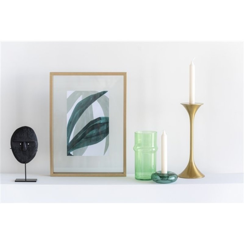 Urban Nature Culture-collectie Candle Holder Recycled Glass Air, Chinoise Green