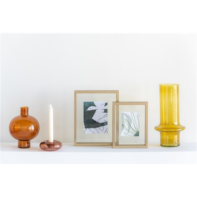 Urban Nature Culture-collectie Candle Holder Recycled Glass Air, Cameo Brown