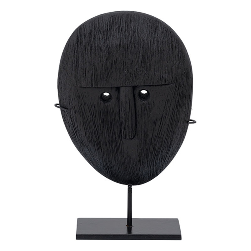 Urban Nature Culture-collectie Object Mango Wood Head On Stand, 20Cm