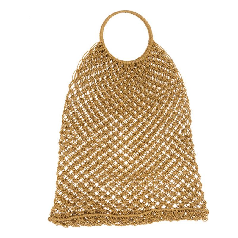 Urban Nature Culture-collectie Bag Shopper Jute Macrame, Yolk Yellow
