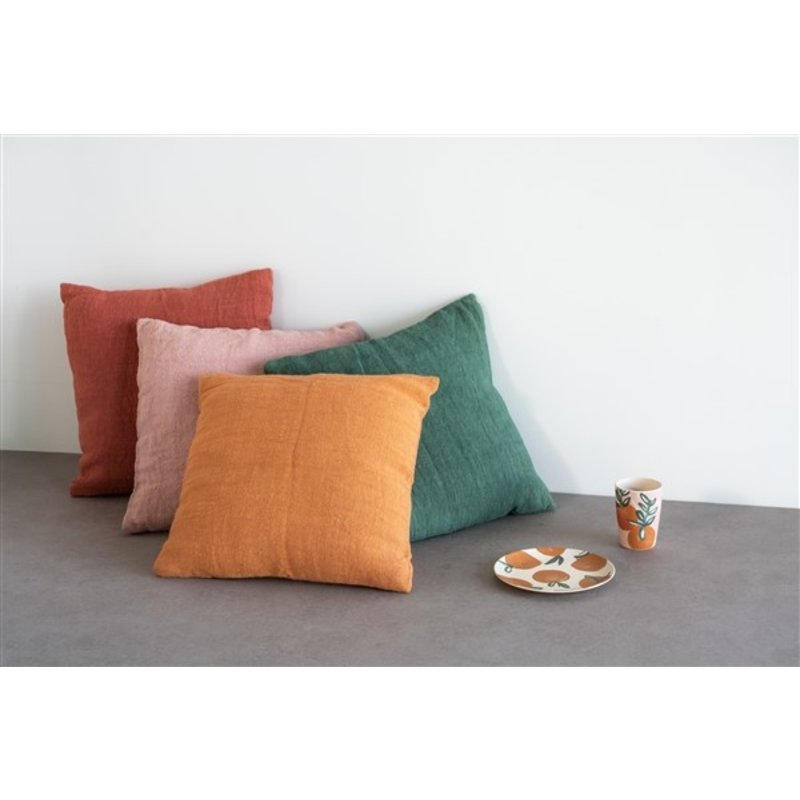 Urban Nature Culture-collectie Cushion Washed Jute, Myrtle
