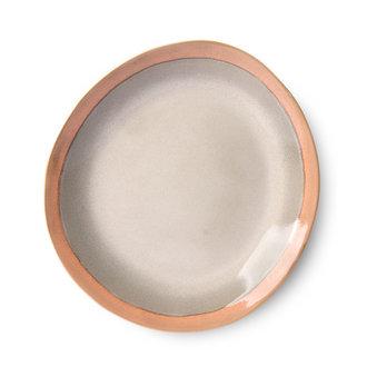 HKliving ceramic 70's side plate: earth - set of 2