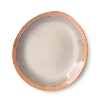 HKliving Keramiek seventies side plate Earth - set van 2