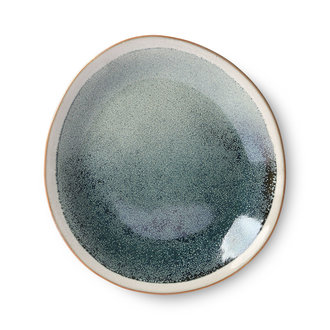 HKliving Keramiek seventies side plate Mist - set van 2