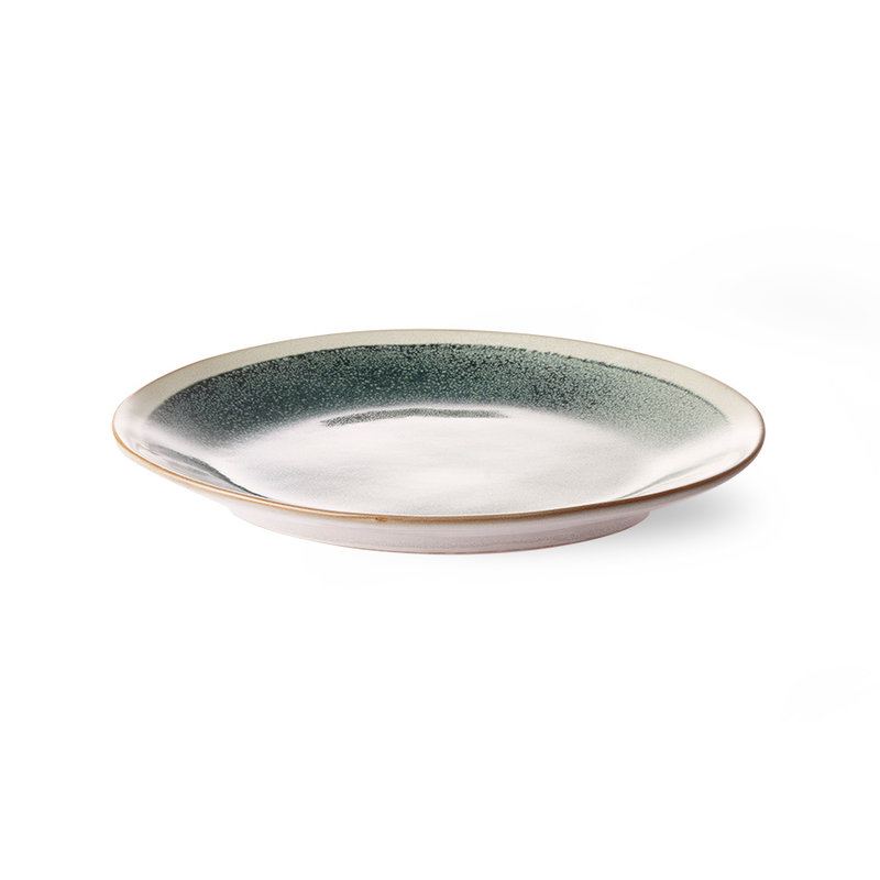 HKliving-collectie Keramiek seventies side plate Mist - set van 2