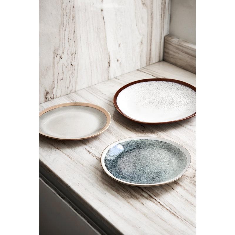 HKliving-collectie ceramic 70's side plate: mist - set of 2